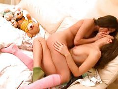 Horny lesbo teens kissing tube