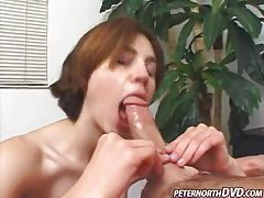 She blows him with great skill before facial tubes