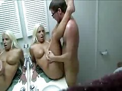Blonde fucked in bathroom at party tubes