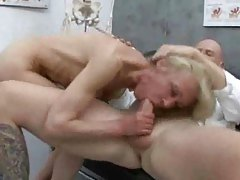 Granny visits the doctor for anal sex tubes