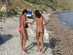 Lots of ladies naked at the beach and in water tubes