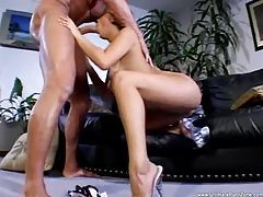 Slut tries lots of positions with her man tubes