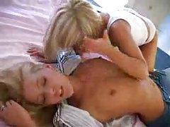 Blonde lesbian play with panties included tubes