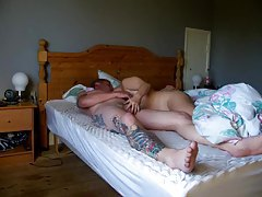 Tattooed man fucks his GF really hard tubes