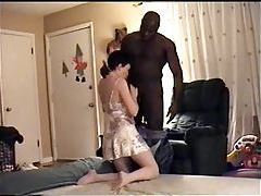 Wife in living room fucked by big black cock tubes