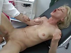 Granny goes to doctor and gets ass fucked tubes