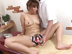Cute Japanese teen goes in for naughty massage tubes