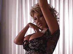 Huge titty Asian blonde milf dancing tubes