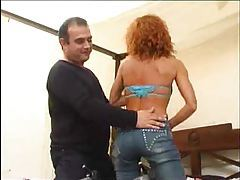 Milf redhead with curly hair hammered tubes