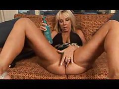 Horny blonde humping huge dildos tubes