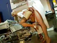 Nurse and doctor fucking in hospital tubes