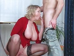Chubby milf in stockings fucked deep tubes