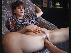 Chick squirts thanks to hot fisting tubes