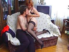 Horny redheaded Russian mature fucked deeply tubes