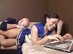 Cheerleader is black and horny for cock tubes