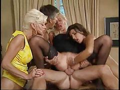 Group sex includes anal and fisting tubes