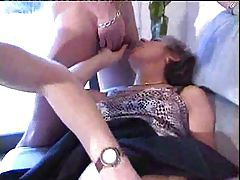 Wet mature pussy fisted and her ass fucked tubes