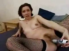 This mature blonde is fond of black cock tubes
