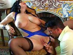 Anal dildo play during interracial lesbian scene tubes