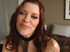 Glammed girl swallowing cock tubes