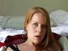 Redhead masturbating on camera tubes