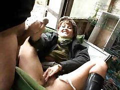 Girl pissing in the woods and fucking tubes