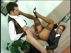 He gives corporate milf fuck in the ass tube