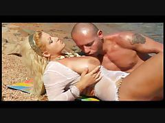 Sex on the beach with curvy blonde bitch tubes