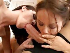 Mom and daughter share his throbbing meat tubes