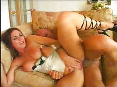 Incredible lingerie on this slut that rides dick tubes