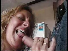 Horny British housewife entertains two men tubes