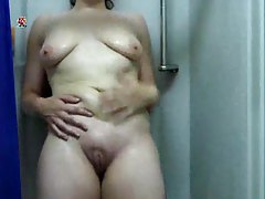Soft solo mom taking a shower tube