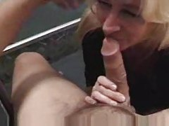 Mature oral and a facial cumshot tube