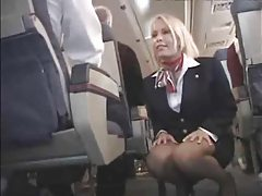 Stewardess fucked on her plane so hard tubes