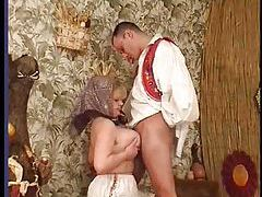 Fucking his mature aunt from behind tubes