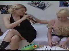 Young blonde is seduced by her aunt tubes