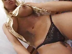 Breathtaking blonde penetrated by fat cock tubes