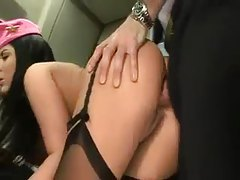 Stewardess fucked by airline pilot tubes