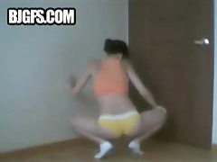 Hot girl shaking her booty in a dance tubes