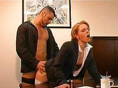 An office fuck clip with two scenes tube