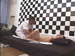 Massaging and fingering Japanese girl tubes