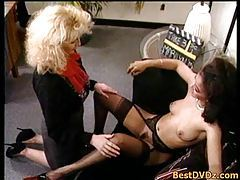 Horny lesbians licking hairy pussies tubes
