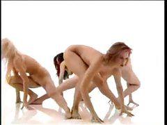 Nude chicks doing aerobics tubes