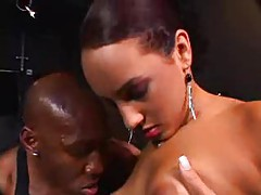 Black dick is big inside Victoria Allure tubes