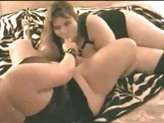 BBW babes have kinky lesbian sex tubes