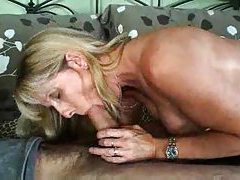 Mature gal sucks and strips before sex tubes