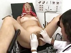 Granny with hairy cunt fucked by her doctor tubes