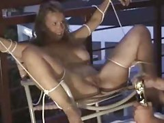 Adventurous bondage fun looks painful tubes