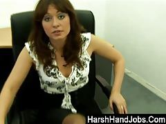 Renee Richards giving a harsh handjob tube