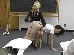 Teacher spanks girl in the classroom tubes